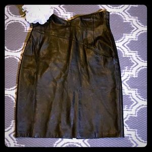 Vintage Forenza Black Leather Skirt Size 4